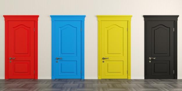 انتخاب رنگ درب ساختمان