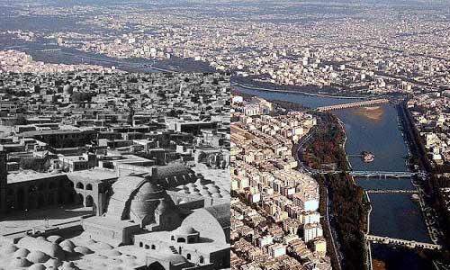 بافت شهری اصفهان قدیم و جدید