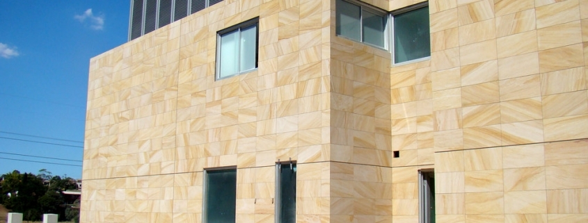 استفاده از ماسه سنگ در نمای ساختمان