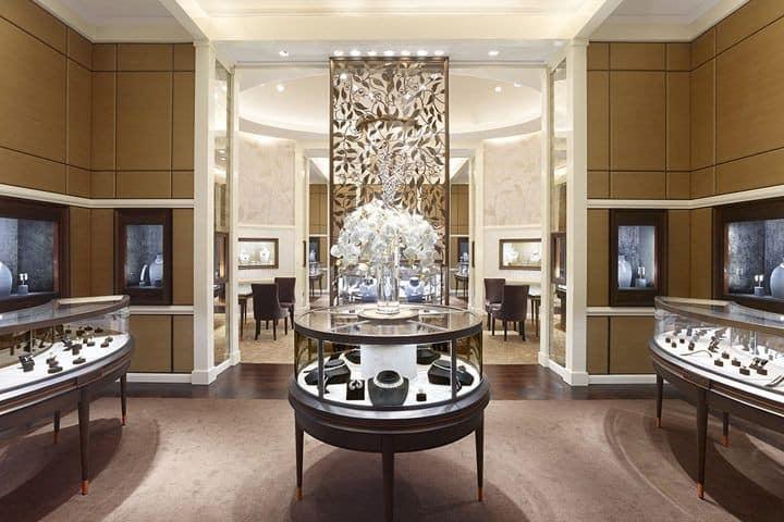 نمونه طراحی داخلی یک جواهر فروشی